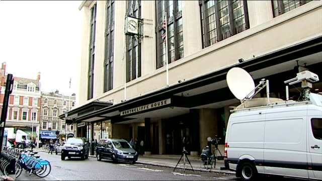 daily mail offices general views; england: london: ext various of exterior of daily mail offices - daily mail stock videos & royalty-free footage