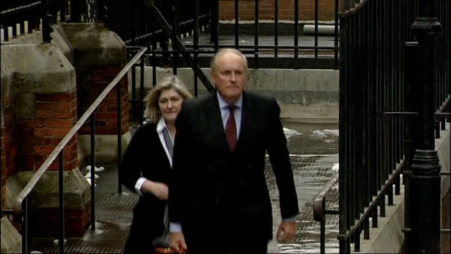 daily mail 'ralph miliband article' row: still no comment from editor paul dacre; lib / t04101323 london: royal courts of justice: ext paul dacre... - daily mail stock videos & royalty-free footage