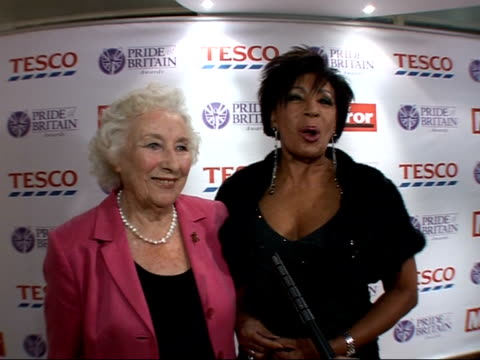daily mirror pride of britain awards 2007 arrivals and interviews vera lynn and shirley bassey photocall and interview sot - pink singer stock videos and b-roll footage