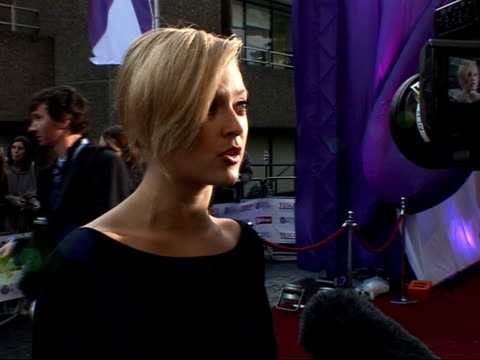 daily mirror pride of britain awards 2007 arrivals and interviews fearne cotton talkking to press sot/ alex curran arrival/ lucy pinder and roxanne... - fearne cotton stock videos & royalty-free footage