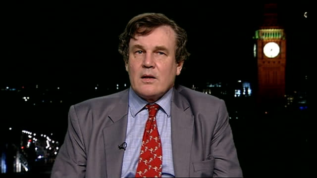 daily telegraph's peter oborne resigns over paper's hsbc 'tax avoidance' coverage; england: london: gir: int peter oborne 2 way interview from... - brother stock videos & royalty-free footage