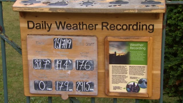 daily weather recording in cambridge botanical gardens showing temperature as being the hottest place in the uk on the hottest day of the year - heatwave stock videos & royalty-free footage