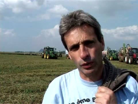 dairy farmer protests continued on friday with producers planning to dump hundreds of thousands of litres of milk into fields to draw attention to... - rennes stock videos & royalty-free footage
