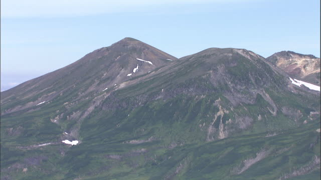 daisetsuzan volcanic group, hokkaid__aerial shot - daisetsuzan volcanic group stock videos and b-roll footage