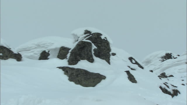 daisetsuzan volcanic group in winter, hokkaid_ - daisetsuzan volcanic group stock videos and b-roll footage