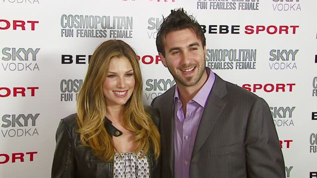 daisy fuentes and karim mashouf at the eva longoria debuts as face of bebe sport at skybar in west hollywood california on march 14 2007 - daisy fuentes stock videos and b-roll footage