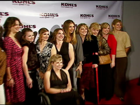 daisy fuentes and the ten transformation nation contest finalists at the kohl's and conde nast media group present the kohl's transformation nation... - conde nast media group stock videos & royalty-free footage