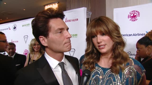 interview daisy fuentes at 2018 carousel of hope ball at the beverly hilton hotel on october 06 2018 in beverly hills california - daisy fuentes stock videos & royalty-free footage