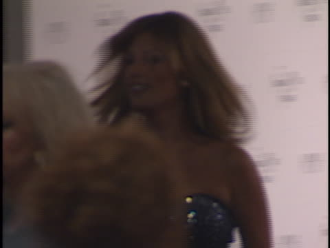 daisy fuentes at the american music awards 1998 at shrine - halston stock videos & royalty-free footage