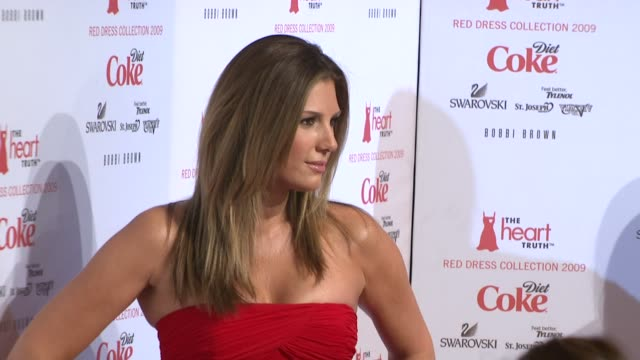 daisy fuentes at the mercedesbenz fashion week fall 2009 heart truth's red dress collection backstage at new york ny - daisy fuentes stock videos and b-roll footage