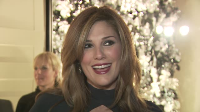 daisy fuentes on attending tonight's event on the new line from burberry and on her favorite burberry piece at the burberry beverly hills store... - daisy fuentes stock videos & royalty-free footage