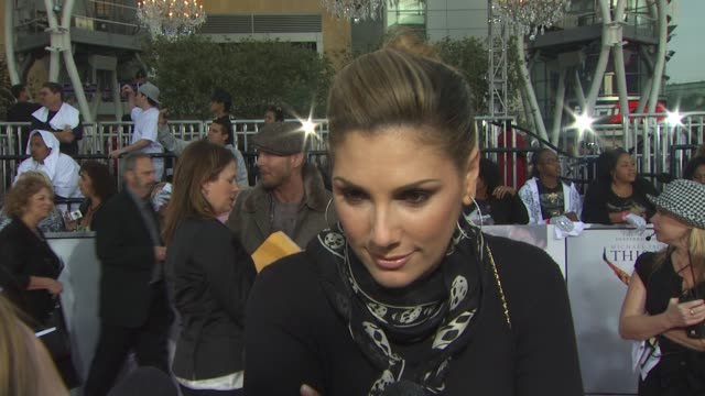daisy fuentes on attending tonight's premier on michael jackson's ability to affect so many people around the world and on what she hopes to see in... - daisy fuentes stock videos & royalty-free footage