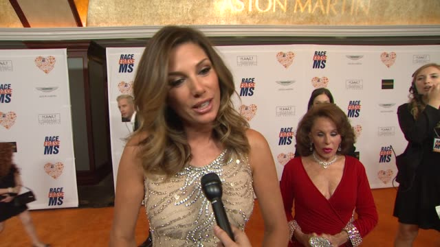 interview daisy fuentes on being a part of the night if she feels relieved not to be walking in the event's runway show this year at the 21st annual... - daisy fuentes stock videos & royalty-free footage