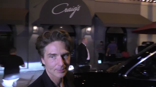 daisy fuentes richard marx at craig's resuaurant in west hollywood in celebrity sightings in los angeles - daisy fuentes stock videos and b-roll footage