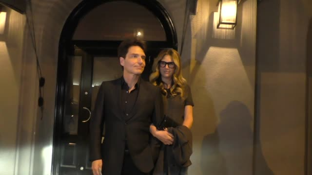 interview daisy fuentes richard marx discuss the upcoming super bowl halftime show after dinner at craig's in west hollywood in celebrity sightings... - daisy fuentes stock videos & royalty-free footage