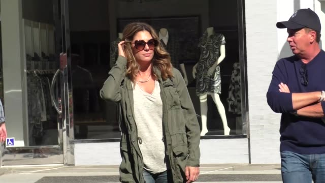 daisy fuentes shopping in beverly hills in celebrity sightings in los angeles - daisy fuentes stock videos and b-roll footage