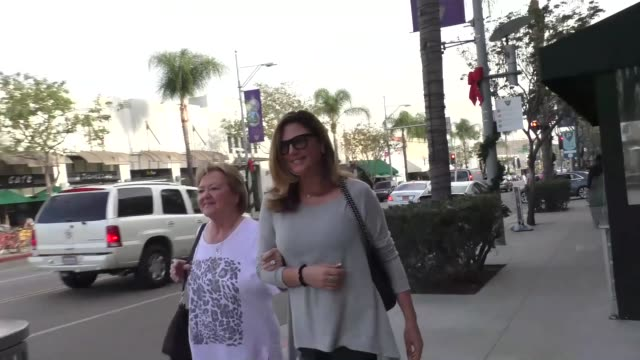 daisy fuentes while shopping in beverly hills in celebrity sightings in los angeles - daisy fuentes stock videos & royalty-free footage