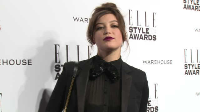 daisy lowe at elle style awards arrivals at one embankment on february 18 2014 in london england - embankment stock videos and b-roll footage