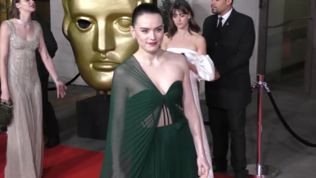 daisy ridley attends the ee british academy film awards 2020 after party at the grosvenor house hotel on february 02 2020 in london england - british academy film awards stock videos & royalty-free footage