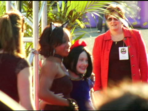 dakota fanning and monique coleman at the 13th annual dream halloween fundraising event at barker hanger in santa monica, california on october 28,... - monique coleman stock videos & royalty-free footage