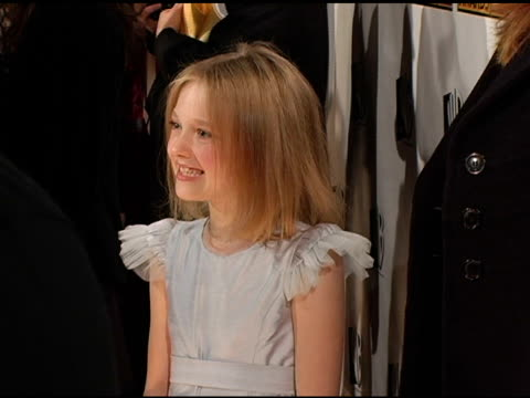 dakota fanning at the 2005 critics' choice awards interviews at the wiltern theater in los angeles california on january 10 2005 - 2005 stock videos and b-roll footage