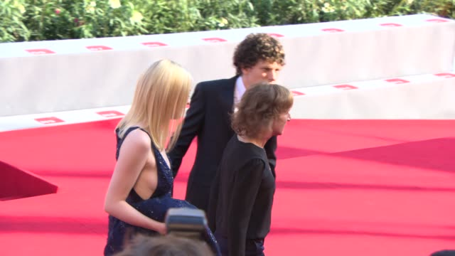 dakota fanning kelly reichardt jesse eisenberg a on august 31 2013 in venice italy - v neck stock videos & royalty-free footage