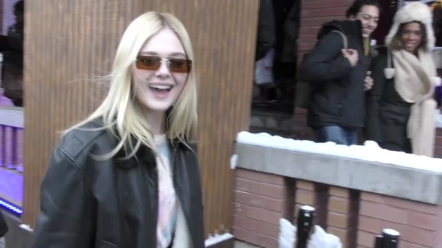 Dakota Fanning on Main Street at the Sundance Film Festival in Park City Utah at Celebrity Sightings in Park City on January 20 2018 in Park City Utah