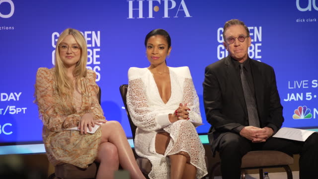 dakota fanning susan kelechi watson tim allen at the 77th annual golden globe® nominations at the beverly hilton hotel on december 09 2019 in beverly... - nomination stock videos & royalty-free footage