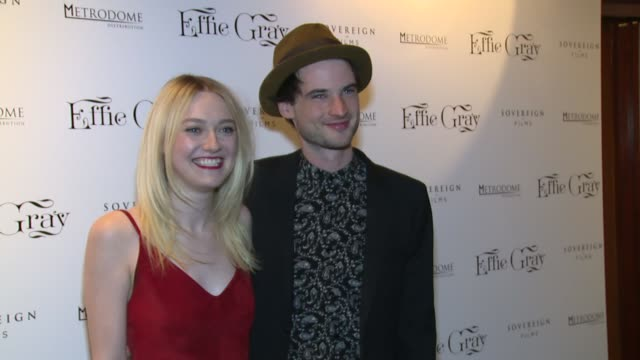 dakota fanning tom sturridge and claudia cardinale at effie gray uk premiere on 5th october 2014 in london england - effie stock videos and b-roll footage