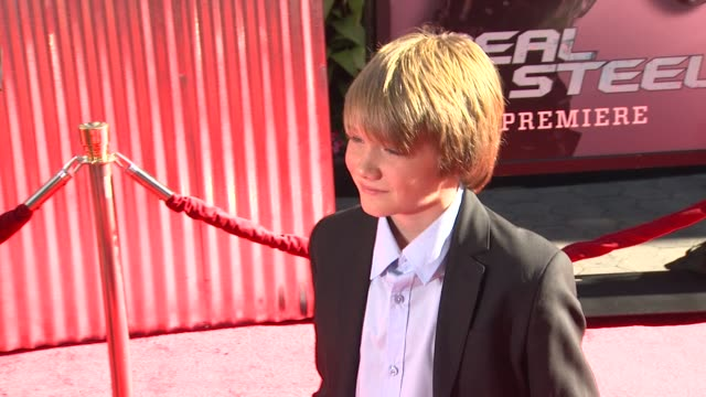 dakota goyo at the the world premiere of dreamworks pictures' 'real steel' at universal city ca. - universal city stock videos & royalty-free footage
