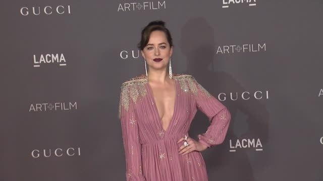 Dakota Johnson at the 2017 LACMA Art Film Gala Honoring Mark Bradford And George Lucas And Presented By Gucci at LACMA on November 4 2017 in Los...