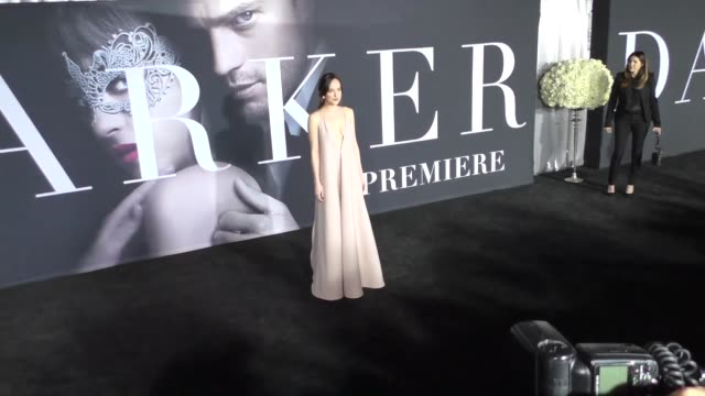 Dakota Johnson at The Universal Pictures Premiere of 'Fifty Shades Darker' on February 03 2017 in Hollywood California