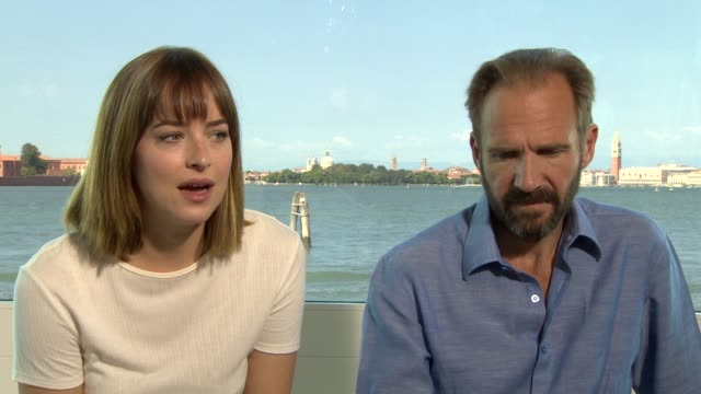 INTERVIEW Dakota Johnson Ralph Fiennes on young women and her character at 'A Bigger Splash' Interview 72nd Venice Film Festival on September 07 2015...