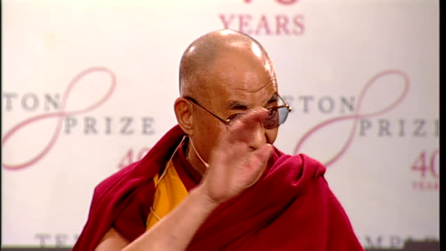 Dalai Lama opening statement and QA at St Paul's Cathedral award ceremony ENGLAND London St Paul's Cathedral INT Dalai Lama speech SOT I always...
