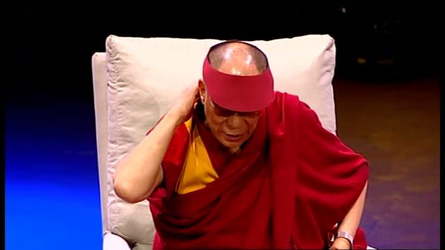 Dalai Lama speech at Royal Albert Hall Dalai Lama speech continued SOT