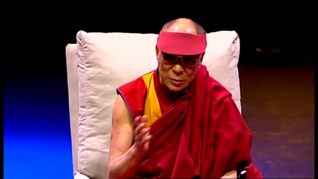 dalai lama speech at royal albert hall; dalai lama speech sot - this is something practical / my main commitment, two things, one promotion of human... - human interest stock videos & royalty-free footage