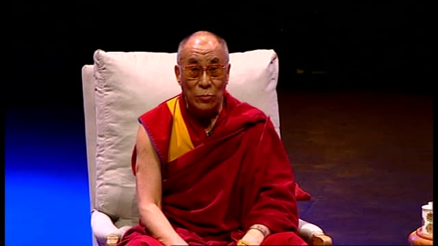 dalai lama speech at royal albert hall his holiness the dalai lama speech sot very happy at albert hall third time i can't remember / thank the... - zen like stock videos & royalty-free footage