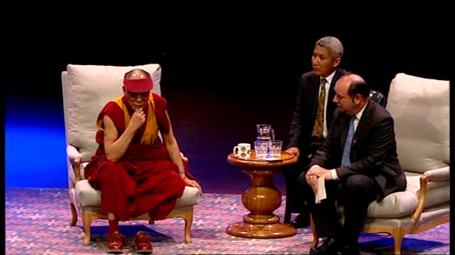 Dalai Lama speech at Royal Albert Hall Norman Baker conducts question and answer session with Dalai Lama and audience SOT