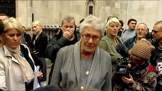 Dale Farm travellers lose legal battle to stop eviction ENGLAND London Royal Courts of Justice EXT Vanessa Redgrave interview SOT Before they came it...