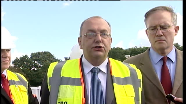 dale farm travellers' site eviction: press conference with basildon borough council and essex police; tony ball press conference sot - rather a... - basildon stock videos & royalty-free footage