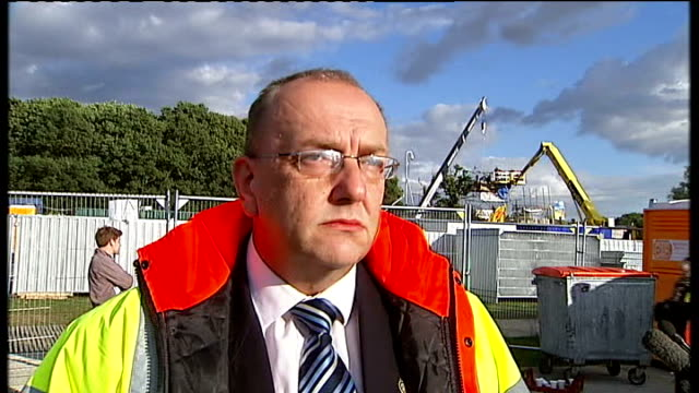 dale farm travellers' site evictions bailiffs move in england essex crays hill dale farm ext councillor tony ball interview sot i think we were all... - デールファーム点の映像素材/bロール