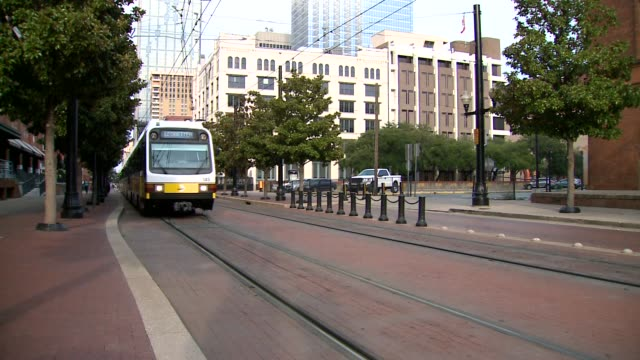 dallas area rapid transit trains driving - darts stock videos and b-roll footage