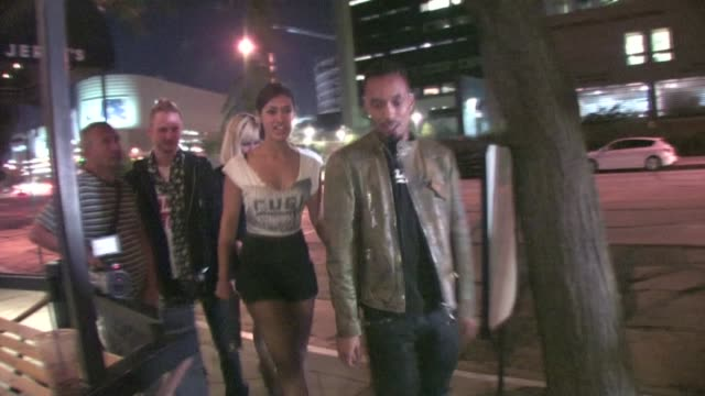 Dallas Austin and Janina Gavankar at The Beverly in Los Angeles on 8/26/2011