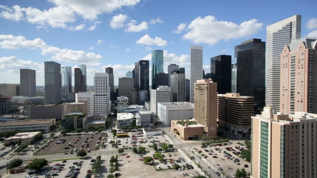 Dallas, Texas, USA, city skyline, elevated view