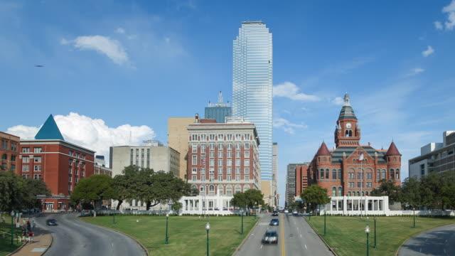Dallas, Texas, USA, city skyline, time-lapse