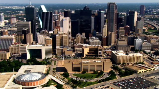 dallas, texas, viewed from the south. shot in 2007. - 2007 stock videos & royalty-free footage
