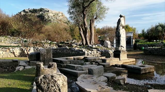 dalyan, caunos ancient city. - dalyan stock videos and b-roll footage
