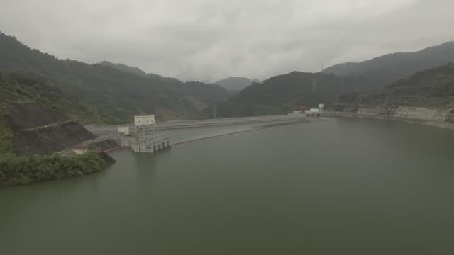 dam along mekong river - mekong delta stock videos & royalty-free footage