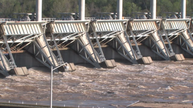 dam at high water in hd - arkansas stock videos & royalty-free footage