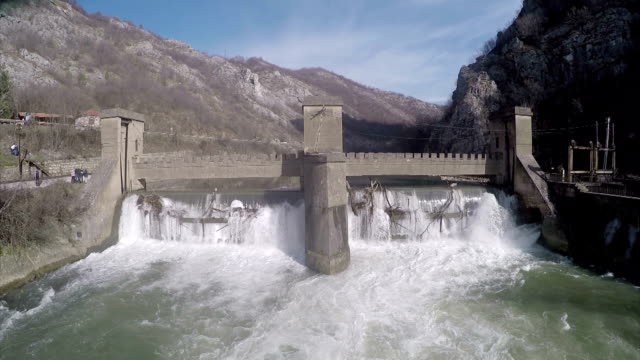 Dam in canyon